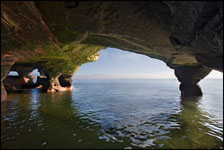 Sand Island sea cave, Apostle Islands National Lakeshore, Wisconsin, Lake Superior