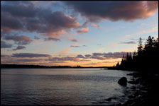 Sunset near Rock Harbor, Isle Royale National Park, Michigan, Lake Superior