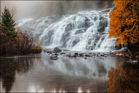 Bond Falls in Fall.  Upper Michigan