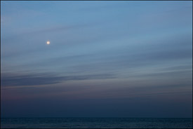 Lake Superior Moonset, Presque Isle, Upper Michigan