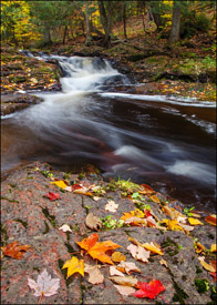 Unnamed Falls, waterfall, Porcupine Mountains State Park, Upper Michigan
