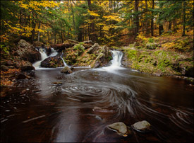 Unnamed Falls, Porcupine Mountains State Park, Upper Michigan