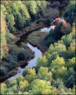 Carp River from Lake of the Clouds Overlook, Upper Michigan